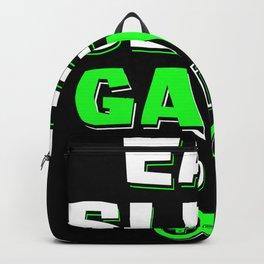 Gamer Gaming Gamble Gambler Video Game Console Backpack