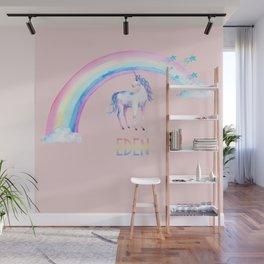 Pink Unicorn Eden Wall Mural