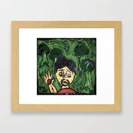 marked scream Framed Art Print