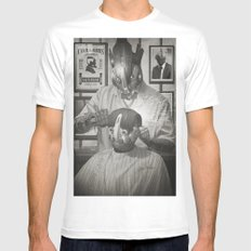 Cyber Barber MEDIUM White Mens Fitted Tee