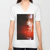 concert V-neck T-shirts featuring concert by Alexandra Bauer