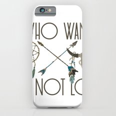 All Who Wander Are Not Lost Native American Dreamcatcher Arrows and Skull iPhone 6s Slim Case