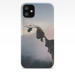 Up in the Clouds-Surreal Levitation Off a Cliff iPhone Case