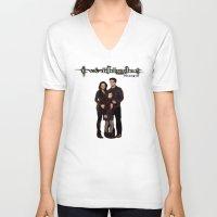 saga V-neck T-shirts featuring Twilight Saga by ezmaya