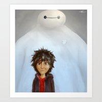 big hero 6 Art Prints featuring Big Hero 6 by MikakoskArts
