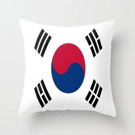 Flag of South Korea Throw Pillow