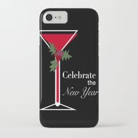 new year iPhone & iPod Cases featuring New Year by Sweet Colors Gallery