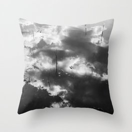 Reflection of the sky in the river Throw Pillow