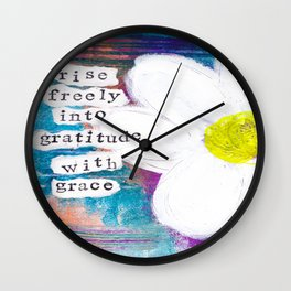 GRATITUDE WITH GRACE Wall Clock