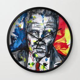 Christopher Walken Portrait painting illustration by #carographic Wall Clock