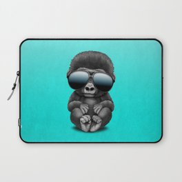 Cute Baby Gorilla Wearing Sunglasses Laptop Sleeve