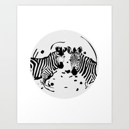 Zebra Record Art Print