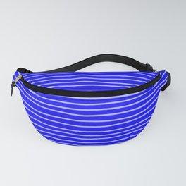Cobalt Pinstripes Fanny Pack