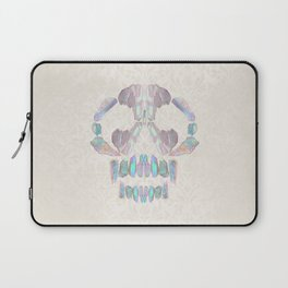 Aurora Quartz Skull Laptop Sleeve