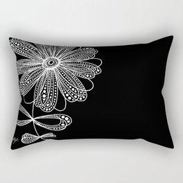 White Flower 4 Rectangular Pillow