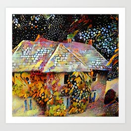 Old house in Bourton on the Water Art Print