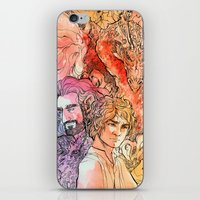 the hobbit iPhone & iPod Skins featuring The Hobbit  by lorna-ka