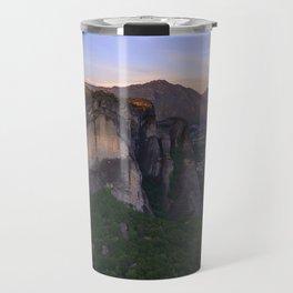 Meteora at sunrise Travel Mug