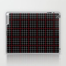 Dotted Grid Weave Black Red Laptop & iPad Skin