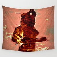 devil Wall Tapestries featuring Devil by Eve Divyn