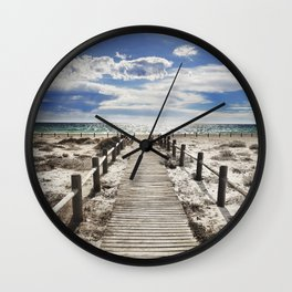 """To the beach..."" Cabo de Gata Wall Clock"