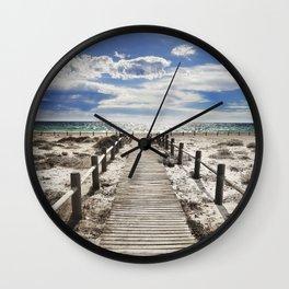 """""""To the beach..."""" Cabo de Gata Wall Clock"""