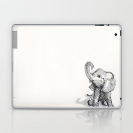 tiny elephant sitting in the corner Laptop & iPad Skin