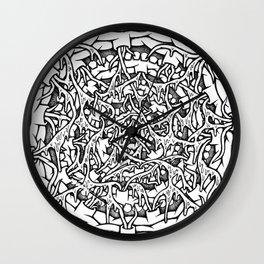 Monster Mouth Mandala Wall Clock