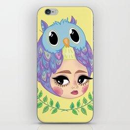 Owl girl iPhone Skin