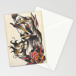 Horse Tattoo Watercolor Stationery Cards