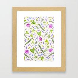 Leaves and flowers (8) Framed Art Print