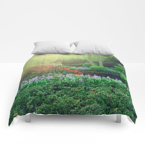 Fantasy garden Comforters