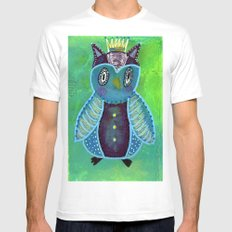 Quirky Bird 3 Mens Fitted Tee White MEDIUM