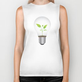 Light Bulb Plant Biker Tank