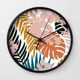 Palms & Bloom Wall Clock