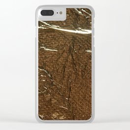 Golden Wrinkles Clear iPhone Case