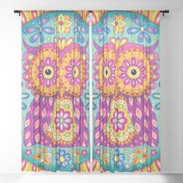 Owl Mandala Sheer Curtain