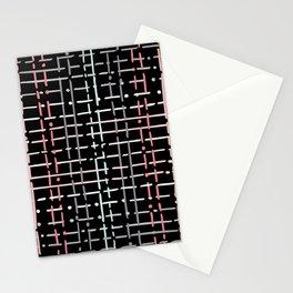 pastel doodle on black Stationery Cards