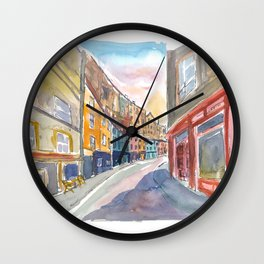 Edinburgh Heritage with Victoria Street Scene Wall Clock