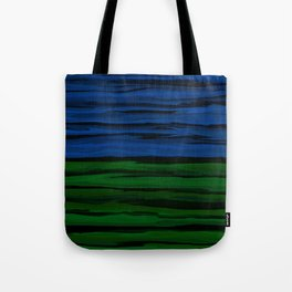 Emerald Green, Slate Blue, and Black Onyx Spilt Tote Bag