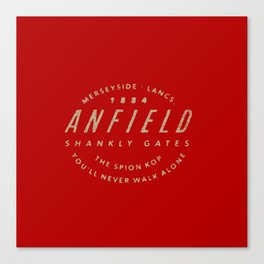 Anfield Quotes Canvas Print