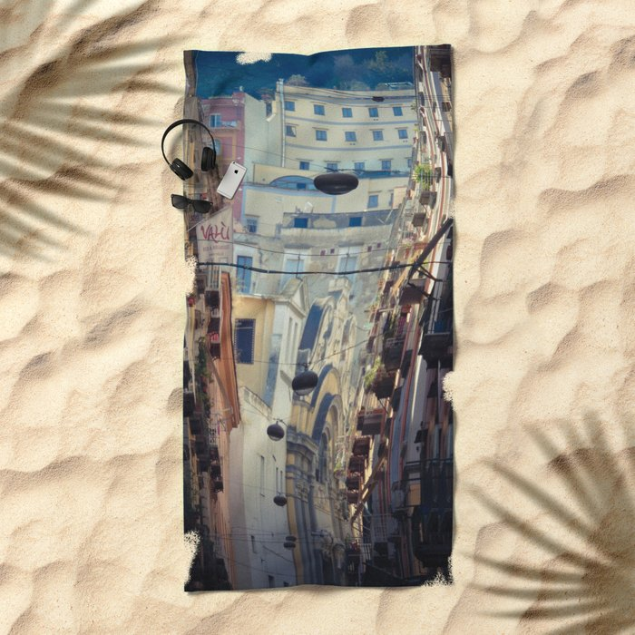 Napoli street Beach Towel