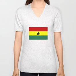 ghana country flag Unisex V-Neck