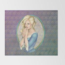 Blonde Beauty Throw Blanket