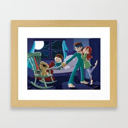 How'd You Meet Mom? Framed Art Print