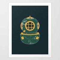 Diving Bell Art Print
