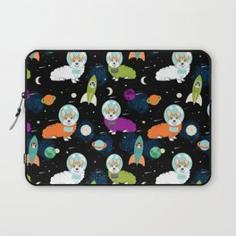 Welsh Corgi outer space cadet space camp rockets astronaut dog breed corgis gifts Laptop Sleeve