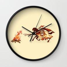 Marshmallow Joust Wall Clock