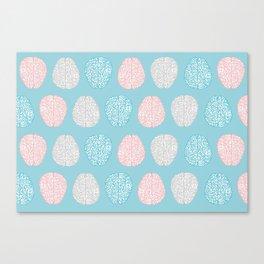 Pastel Brains Pattern Canvas Print