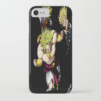 dragonball z iPhone & iPod Cases featuring Broly Dragonball Z by bernardtime